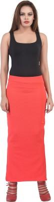 FamGlam Solid Women's Skegging Red Skirt