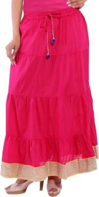 Decot Paradise Solid Women's Regular Pink Skirt at flipkart