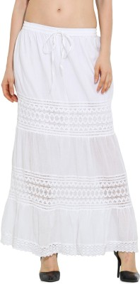 Trend Arrest Solid Women,s Straight White Skirt
