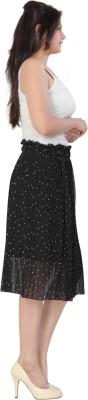 Casam Polka Print Women's Regular Black Skirt