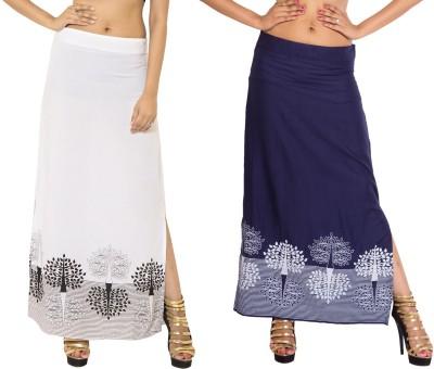 Wardtrobe Printed Women's Regular Multicolor Skirt