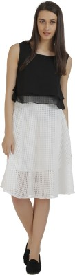 Holidae Solid Women's Regular White Skirt
