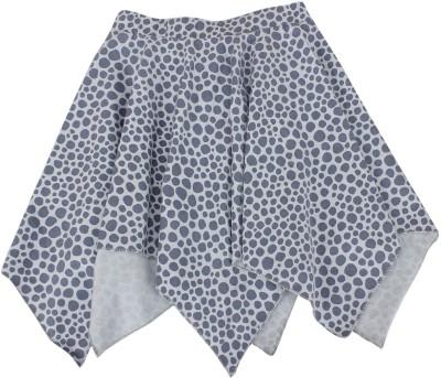 Nino Bambino Polka Print Girl's Asymetric Grey Skirt