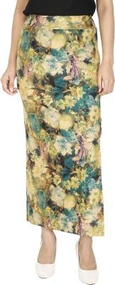 Franclo Floral Print Women's Pencil Green Skirt
