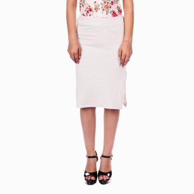 Gwyn Lingerie Striped Women's Straight Grey Skirt