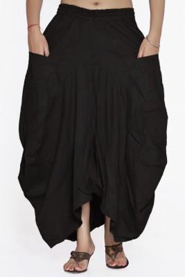 Jaipur Kala Kendra Solid Women's A-line Black Skirt