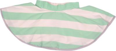 BonOrganik Striped Girl,s Tiered Light Green Skirt