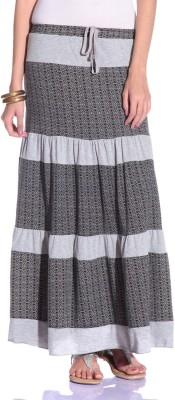 Styleava Printed Women's Regular Grey Skirt