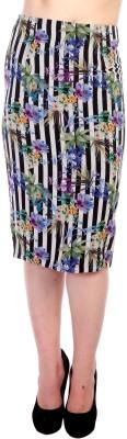 James Scot Striped Women's Pencil Multicolor Skirt