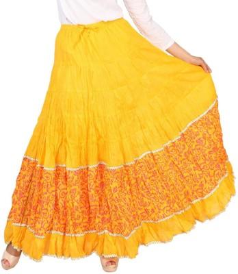 Carrel Printed Women's Broomstick Yellow, Pink Skirt