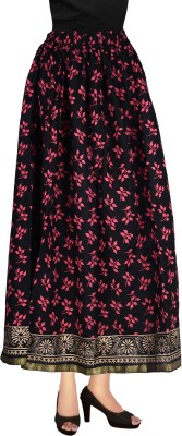 Decot Paradise Printed Women's Regular Black Skirt at flipkart