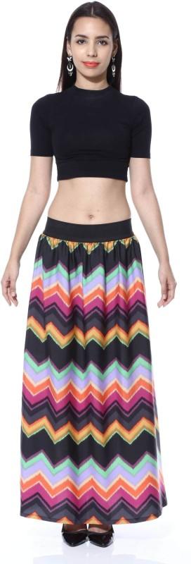 FabnFab Chevron Women's A-line Multicolor Skirt