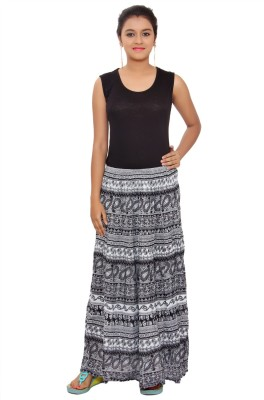 SML Printed Women's Regular Black Skirt