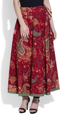 Very Me Paisley Women's A-line Maroon Skirt
