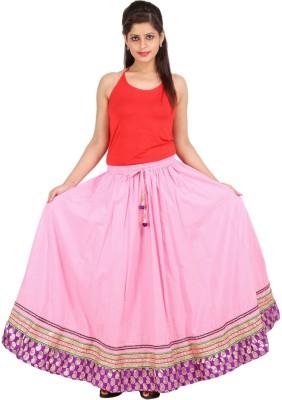 Sunshine Solid Women's A-line Pink Skirt