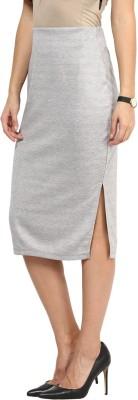 Rare Solid Women's Pencil Grey Skirt