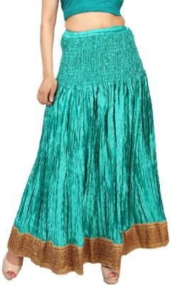 Carrel Embroidered Women's Wrap Around Light Blue Skirt