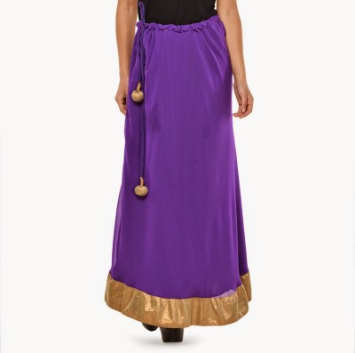 Navyou Solid Women's A-line Purple Skirt