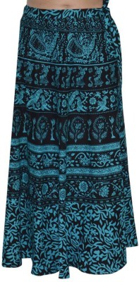 MDS Jeans Animal Print Women's Wrap Around Multicolor Skirt
