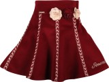 Cutecumber Embellished Girls A-line Red ...