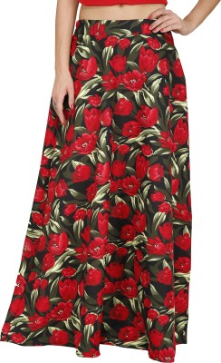 Svt Ada Collections Floral Print Women,s Regular Black Skirt