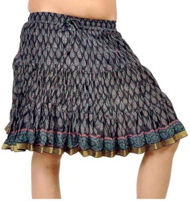 Jaipur Raga Printed Women's Regular Black Skirt
