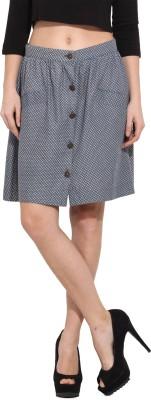 Albely Printed Women's Regular Blue Skirt