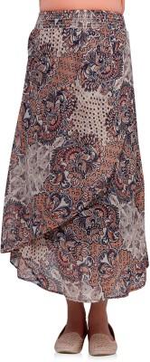 Oxolloxo Printed Women's A-line Multicolor Skirt at flipkart