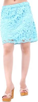 Kashana Fashions Self Design Women's A-line Blue Skirt