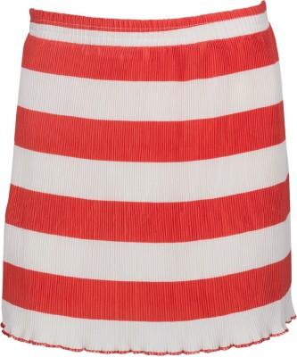 Miss Alibi By INMARK Striped Girl's Regular Orange, White Skirt