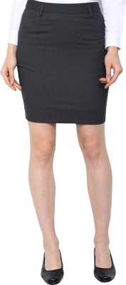 Arrow Solid Women's Pencil Grey Skirt at flipkart