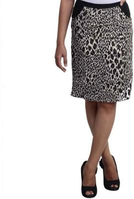 Veakupia Animal Print Women's Pencil Black Skirt