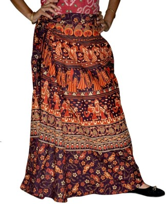 Ooltha Chashma Printed Women's Wrap Around Multicolor Skirt