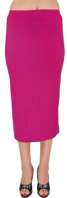 SHYIE Solid Women,s Pencil Pink Skirt