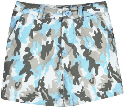 Oye Printed Girl's Tube Blue Skirt