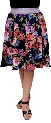 GraceDiva Floral Print Women's Gathered Multicolor Skirt