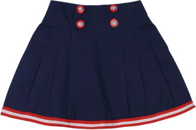 Mom & Me Solid Baby Girl,s Regular Blue Skirt