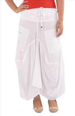 Skirts & Scarves Solid Women's Pleated White Skirt