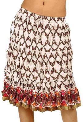Jaipur Raga Printed Women's Regular White Skirt