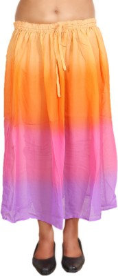 Hlsangam Solid Women's Regular Multicolor Skirt