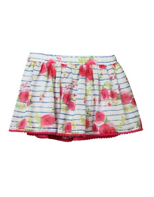 Beebay Floral Print Baby Girl's Gathered Pink Skirt