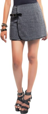 Sassy Stripes Solid Women's Bubble Black Skirt