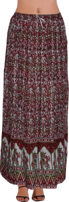 Freedom Daisy Self Design Women's Regular Multicolor Skirt