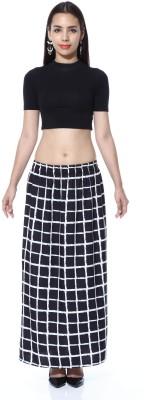 GraceDiva Checkered Women's Pencil Black, White Skirt
