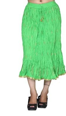 Chhipaprints Printed Women's Regular Light Green Skirt