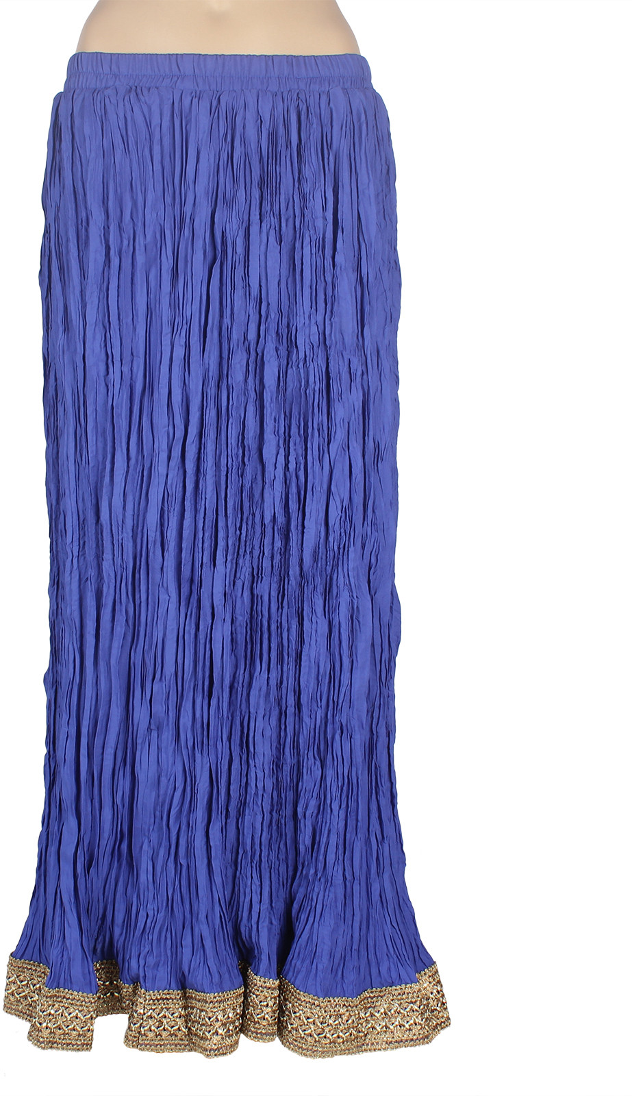Mina Bazaar Solid Womens A-line Blue Skirt