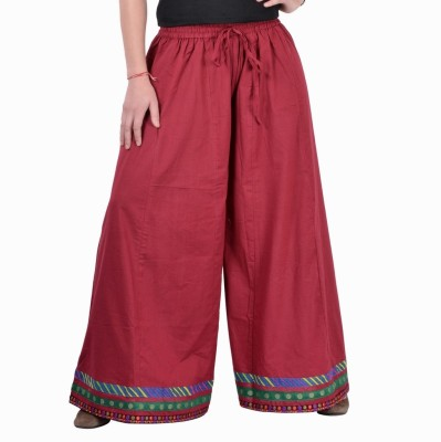Jaipur Kala Kendra Solid Women's Regular Maroon Skirt