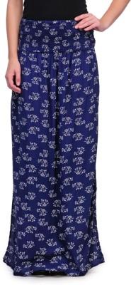Kiosha Printed Women's Broomstick Blue Skirt