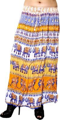 Jhoomar Printed Women's Straight Multicolor Skirt at flipkart