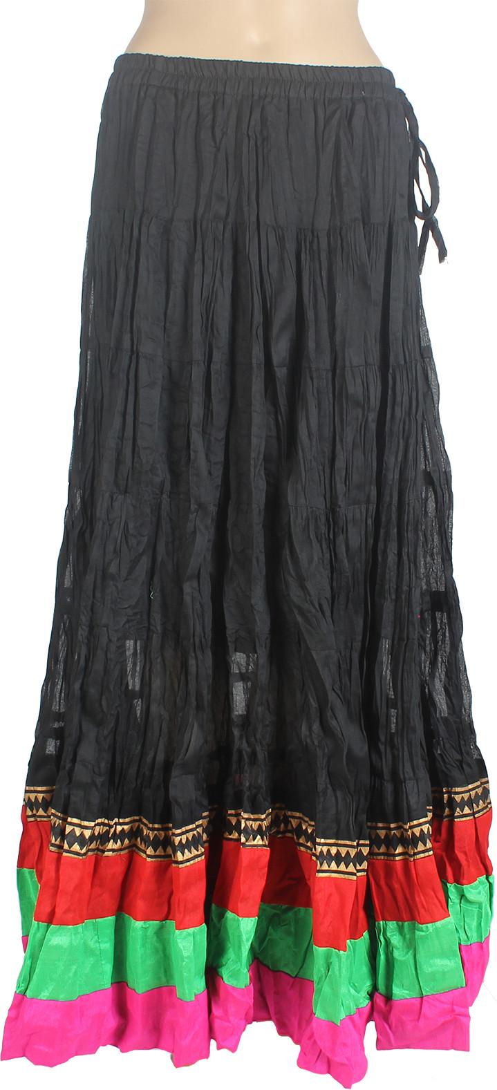 Mina Bazaar Solid Womens A-line Black Skirt